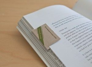 Bookmark Marketing Beyond The Book Industry Printrunner Blog Business Card Design Business Cards Card Design