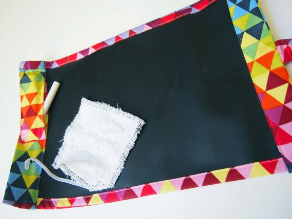 Portable Chalkboard Play Mat Placemat Mini Geometric By Debsla Play Mat Chalkboard Fabric Placemats