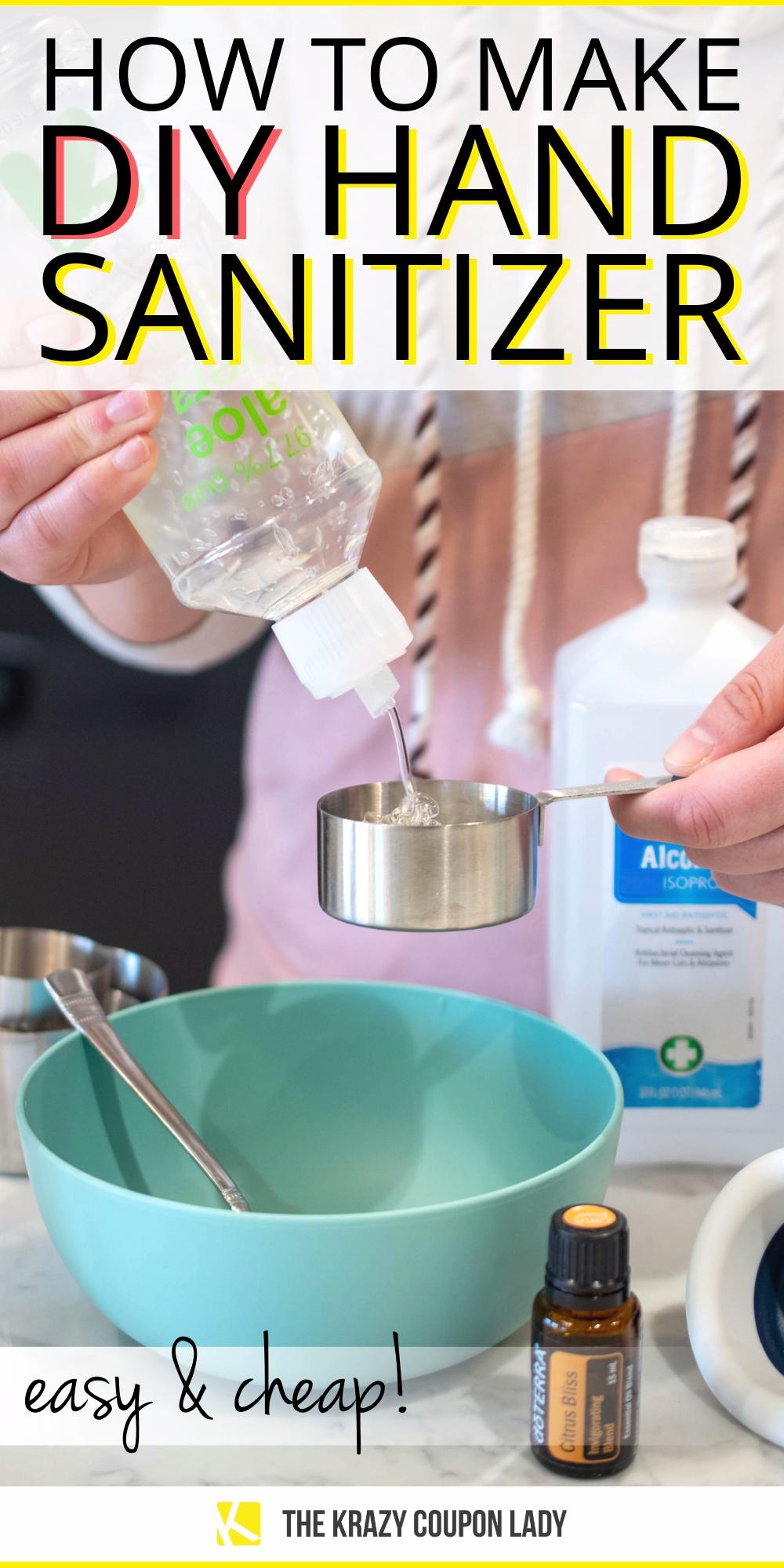 Easy DIY Homemade Hand Sanitizer Recipe (cheap!)