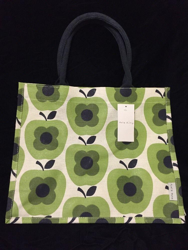 Orla Kiely Apple Abacus Flower Tote Bag Tesco 2016 Shadow White ...