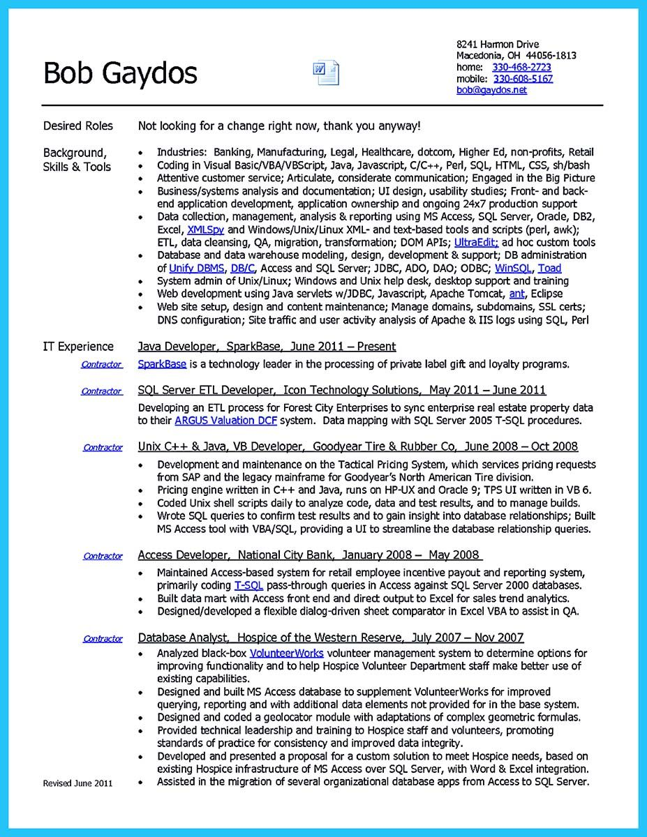 Nice High Quality Data Analyst Resume Sample From Professionals Resume Examples Data Analyst Resume Objective Statement Examples