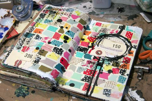 What To Do With Washi Tape washi tape collage. good way to use up little bits and pieces i