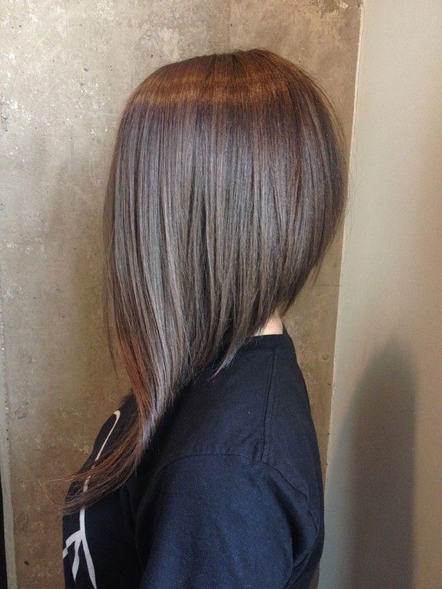 straight long -line bob haircut