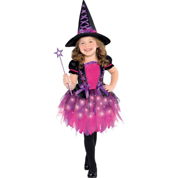 84b07491910 Toddler Girls Light-Up Sparkle Witch Costume | For Kids | Toddler ...