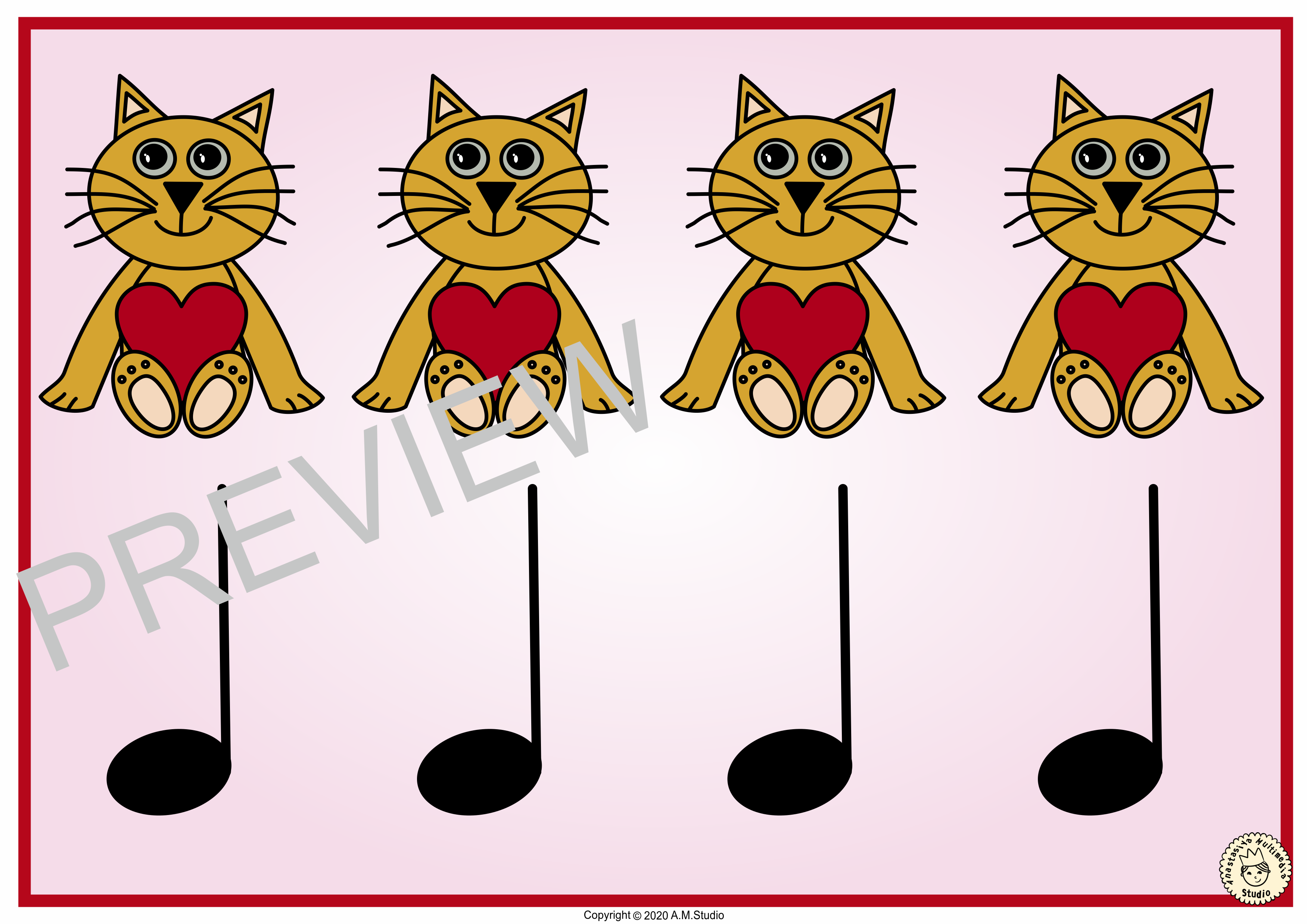 Valentine S Day Music Rhythm Cards Ta Titi And Rest