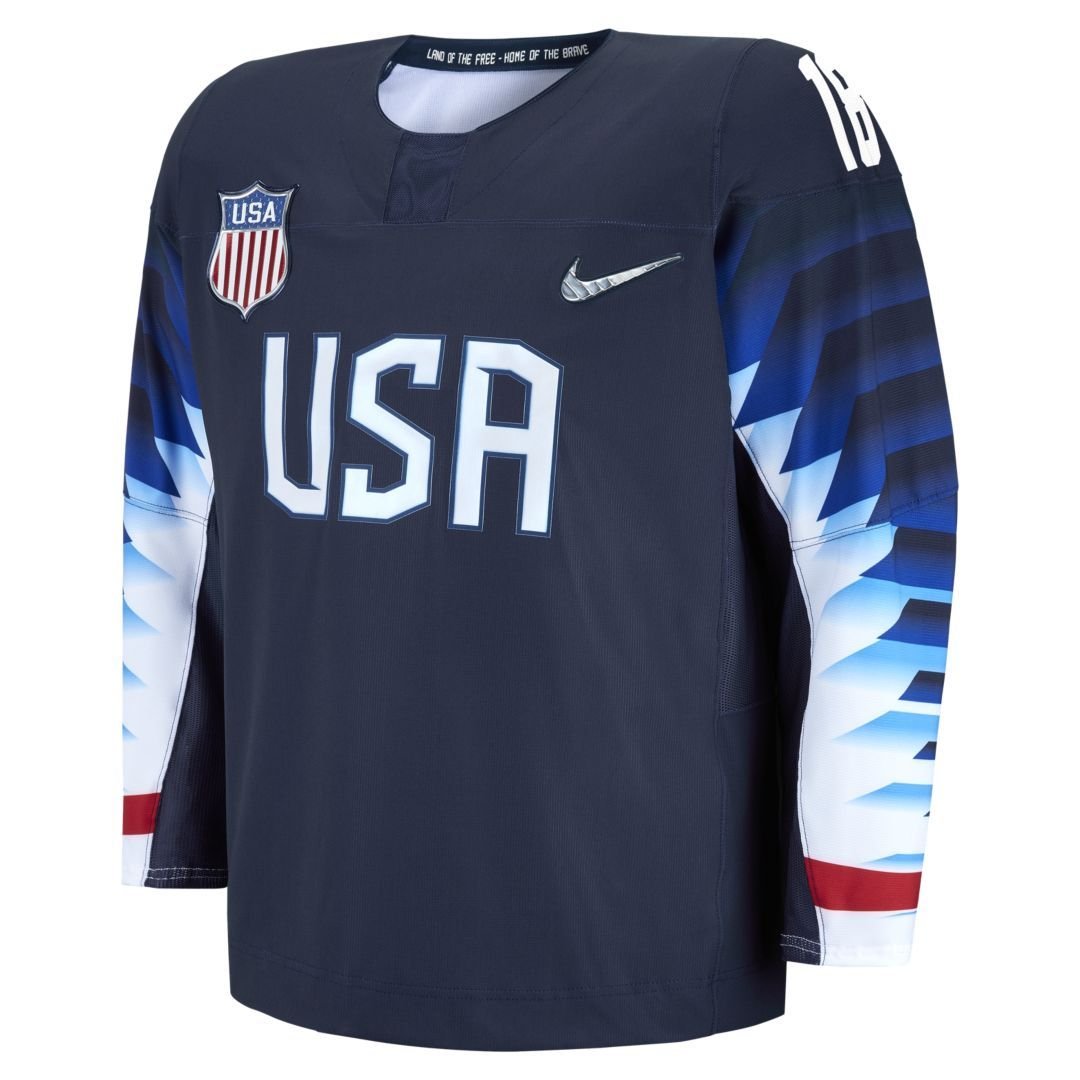 new arrival ce5dc 48c4c Nike Team USA Replica Men's Hockey Jersey Size L (Navy) in ...