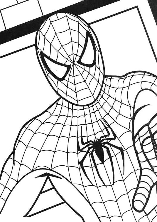 Spiderman Very Angry Coloring Pages