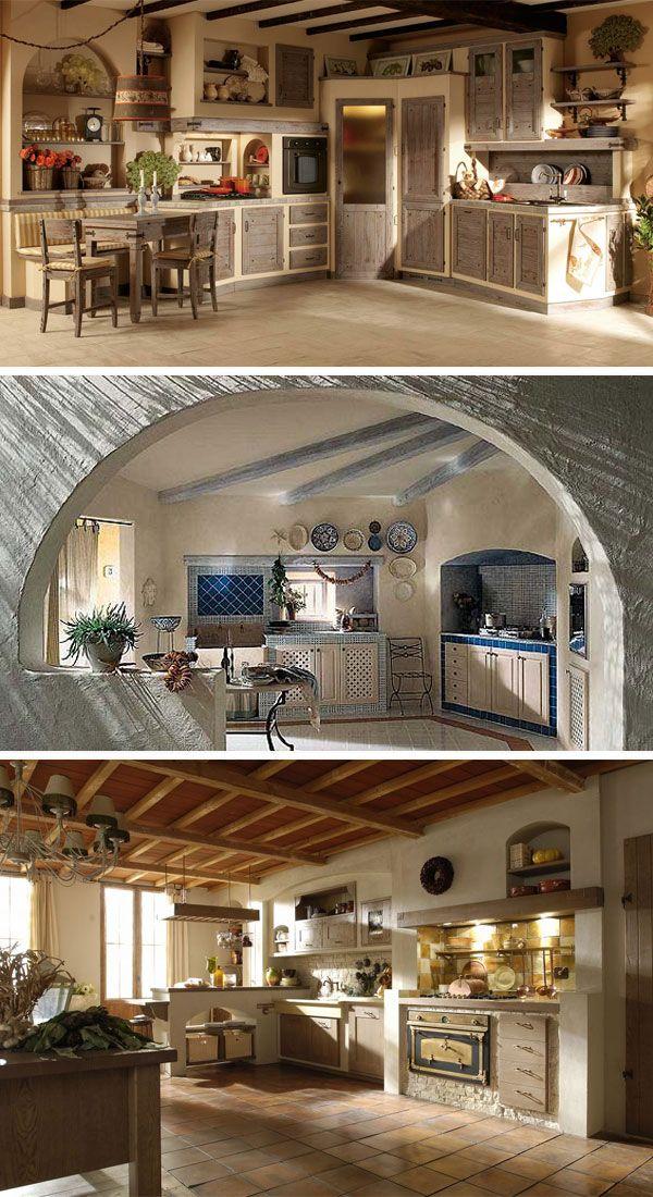 Cucine in muratura 15 idee per progettare una cucina for Casa moderna rustica