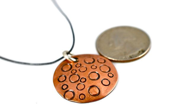 Copper Circle Pendant by justbujewelry on Etsy, $16.00