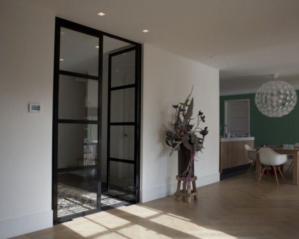 Dubbele deuren naar de woonkamer | Thuis | Pinterest | Steel doors ...