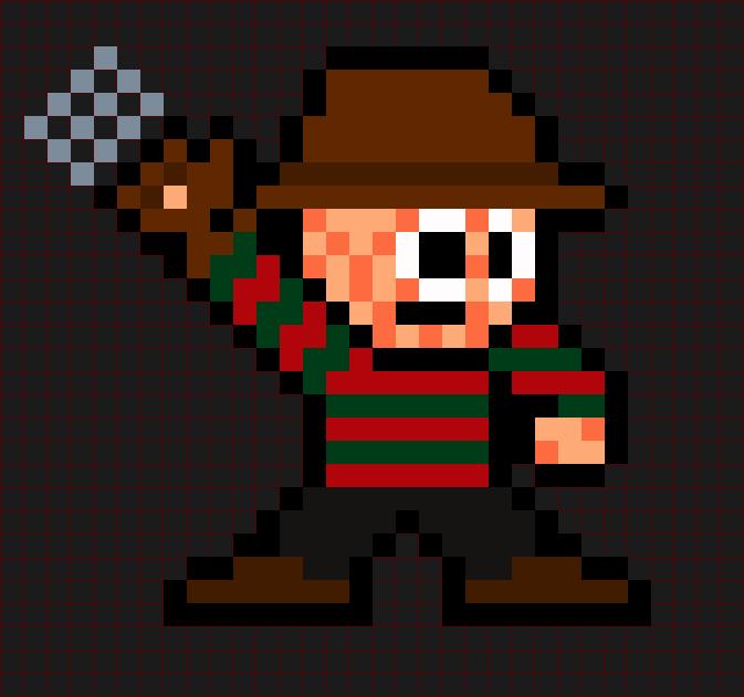 Freddy Krueger A Nightmare On Elm Street Horror Icons Pixel Art Perler Art