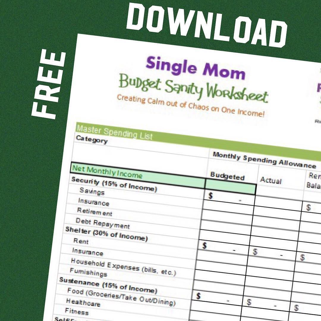 Clicklinkinbio To Download This Free Budget Worksheet