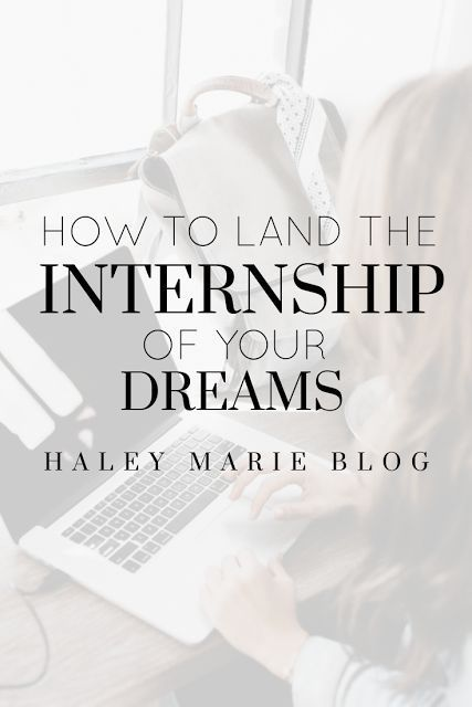 How to Land the Internship of Your Dreams Perfect cover letter - resume for internship