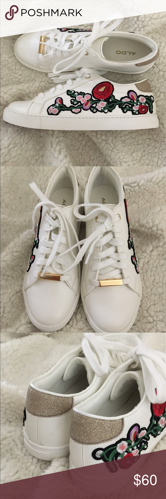 aldo floral sneakers