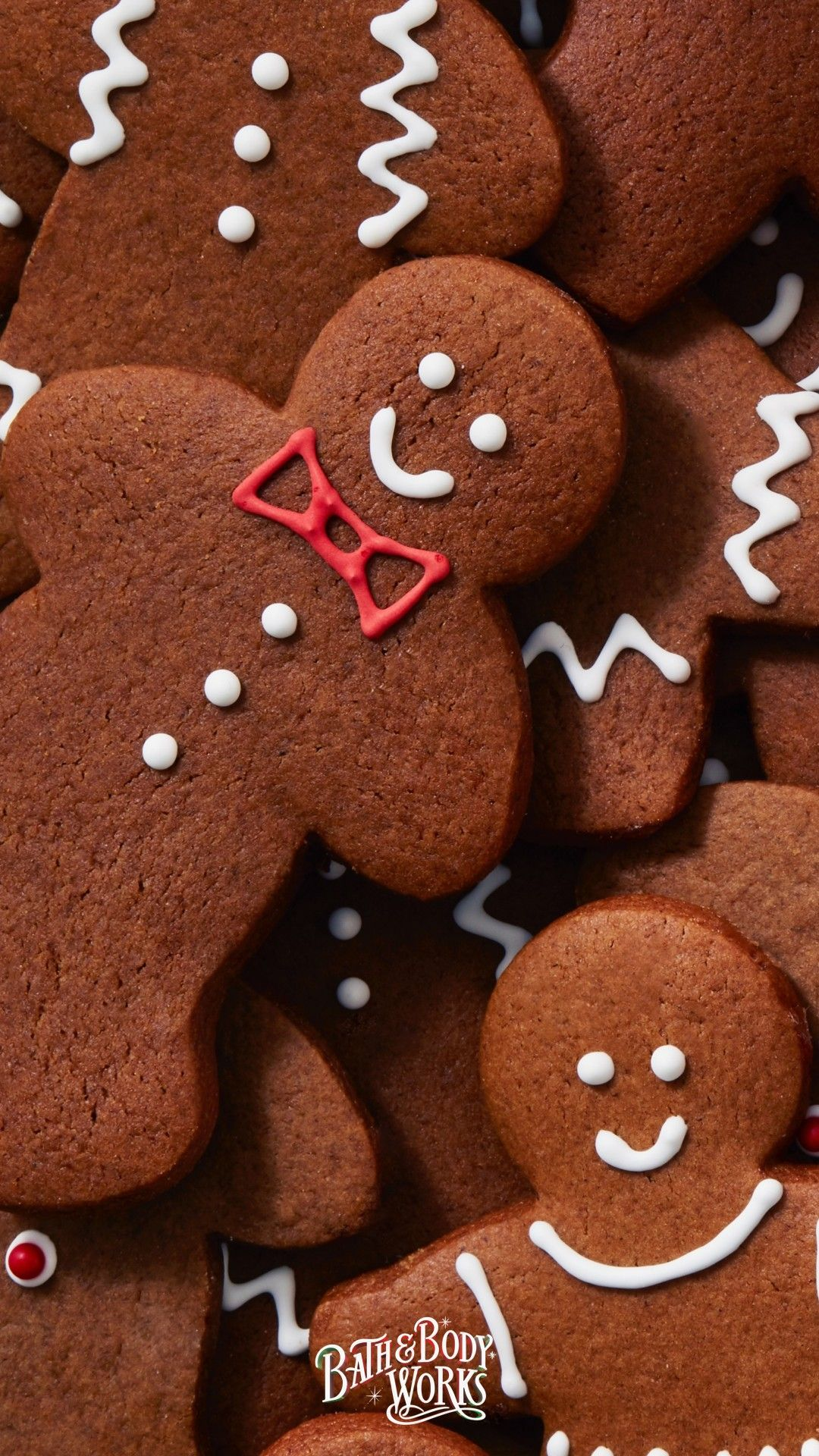 New Gingerbread iPhone Wallpaper #christmasbackgrounds