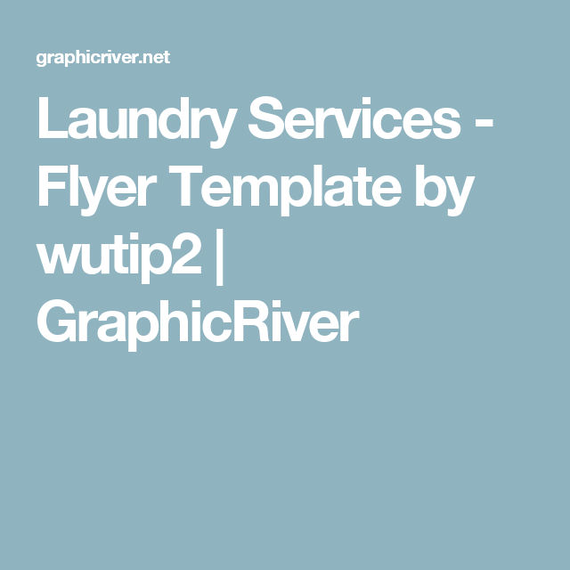 Laundry Services  Flyer Template  Laundry Service Flyer