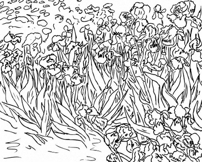 71 coloriages duvres dartistes peintres imprimer - Van Gogh Coloring Book