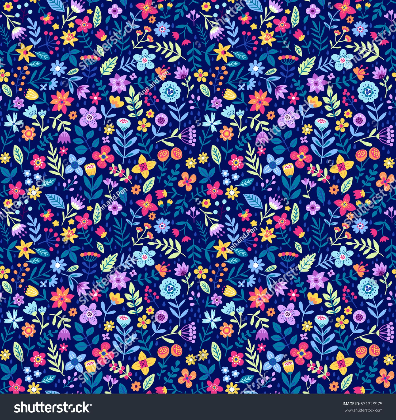 """Cute Floral pattern in the small flower. """"Ditsy print"""