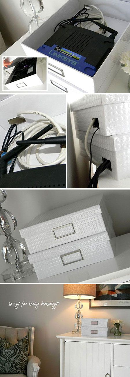 how to hide router home office pinterest kabel verstecken und kabel verstecken. Black Bedroom Furniture Sets. Home Design Ideas