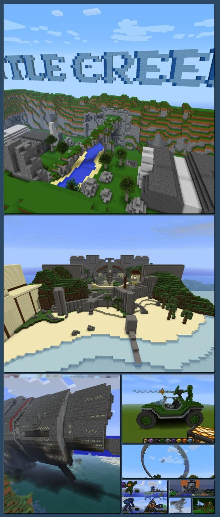 10 Impressive Halo-Inspired Minecraft Builds - IGN [Collage made with one click using http://pagecollage.com] #pagecollage