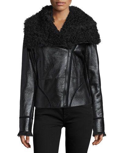 TBW32 Zac Zac Posen Ophelia Fur-Collar Coat