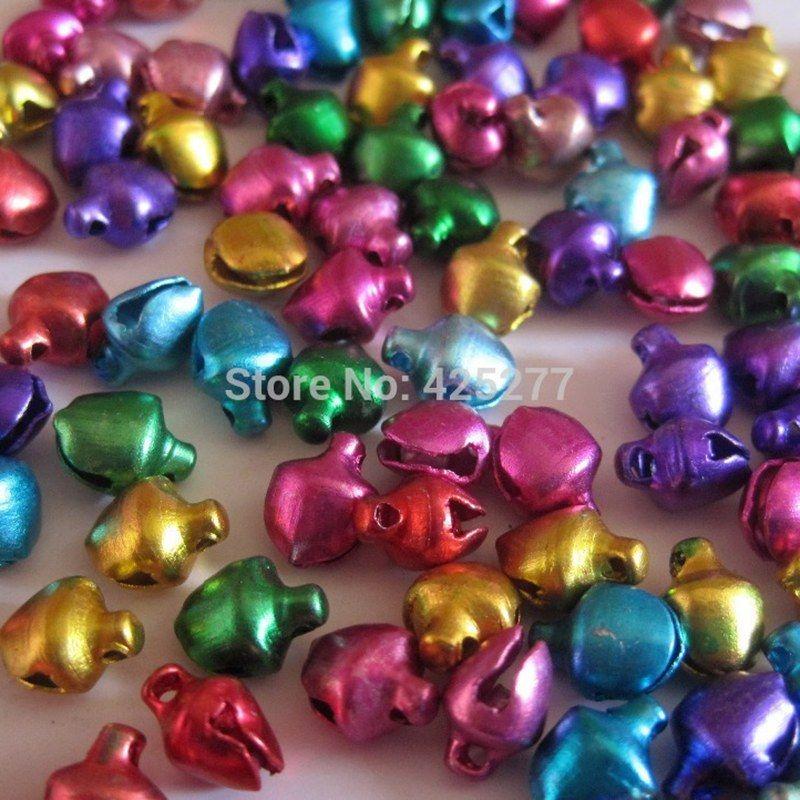 Click to Buy \u003c\u003c Wholesale multicolor bells 12 mm pet accessories - wholesale christmas decor