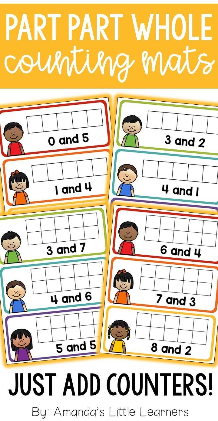 Part Part Whole Counting Mats Part Part Whole Elementary Math Kindergarten Math [ 1392 x 720 Pixel ]