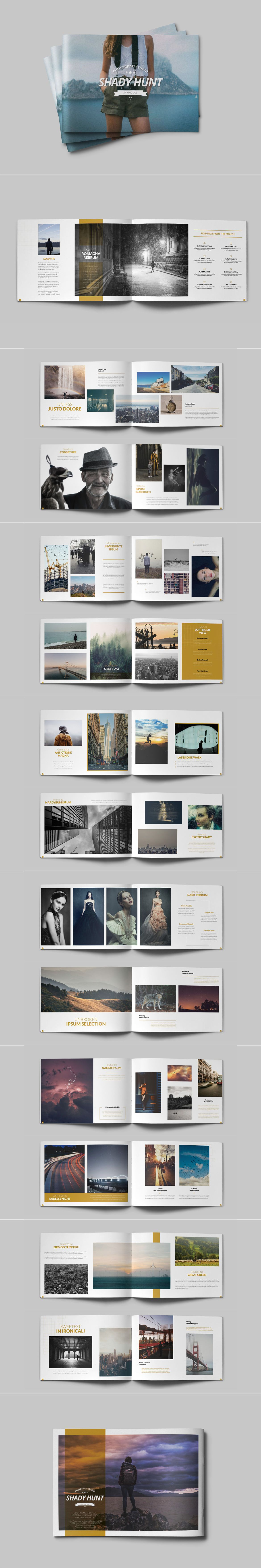 28 Pages Portfolio Album A4 Template InDesign INDD | Brochure ...