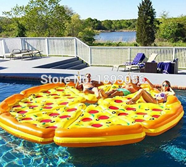 Summer Entertainment Water Sports Floats Giant Inflatable Pizza Floats 1.8m  Inflatable Ride On Pool Float
