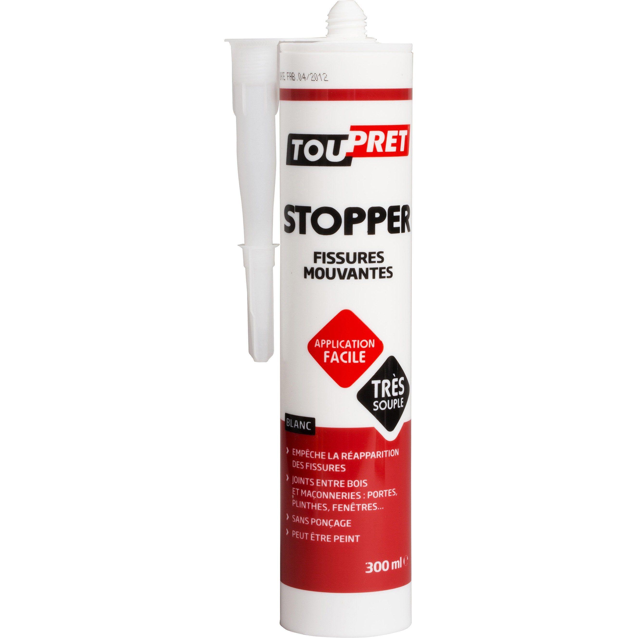 Enduit De Rebouchage Pâte Stop Fissure Blanc Toupret 033