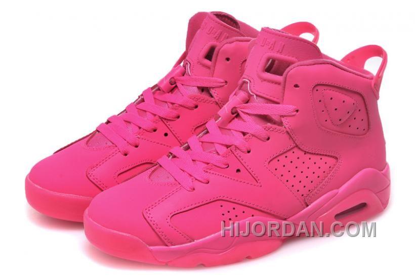 Womens Nike Air Jordan 6 GS All Pink For Sale Girls Size MHSYa  3b4a80e97d