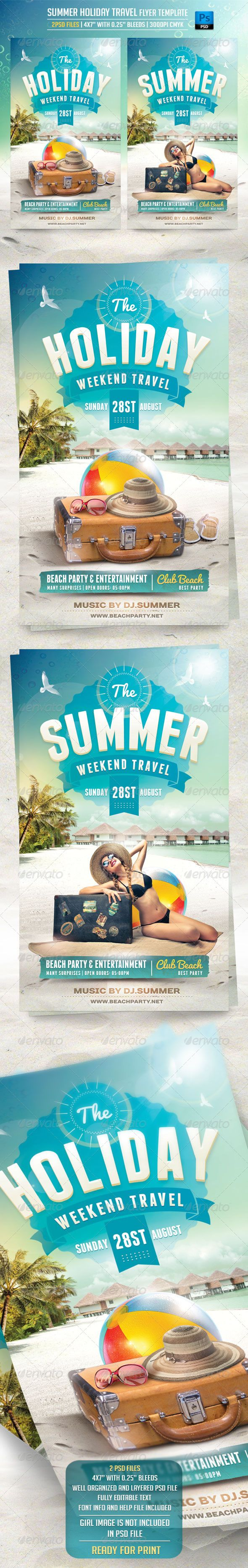 , Summer Holiday Travel Flyer Template – Flyers Print Templates, MySummer Combin Blog, MySummer Combin Blog
