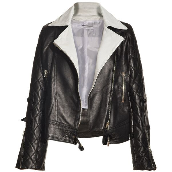 J.W.Anderson Asymmetric Leather Biker Jacket ($2,015) ❤ liked on Polyvore