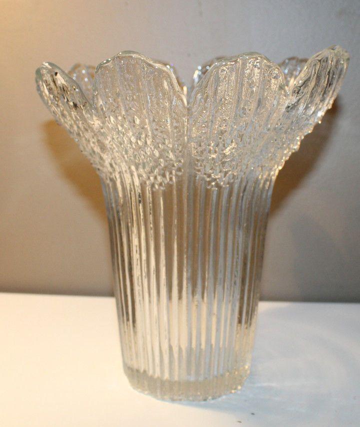 Lasisepat Mantsala Finland Scandinavian Art Glass Vase Clear Pertti Kallioinen Scandinavian Art Art Glass Vase Glass Vase