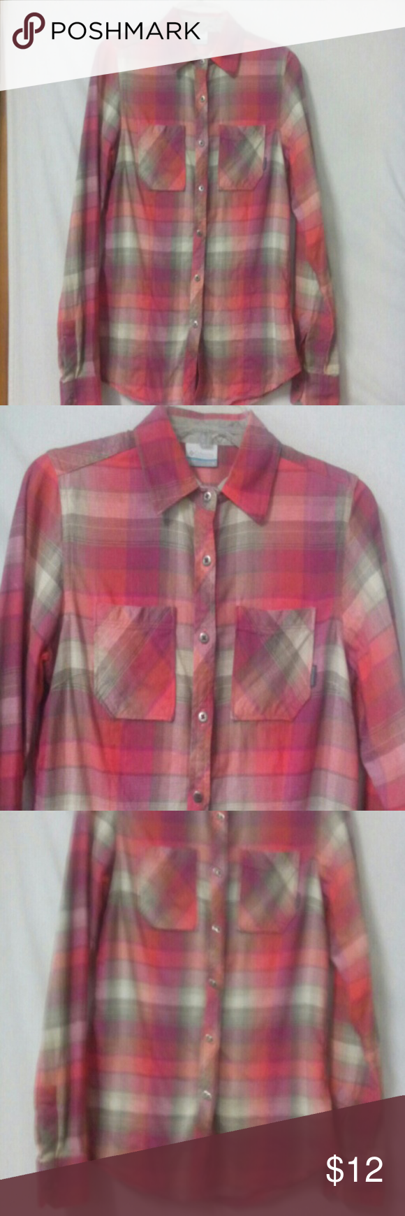 Columbia flannel jacket  Columbia Womenus Size Small Flannel Shirt  My Posh Closet