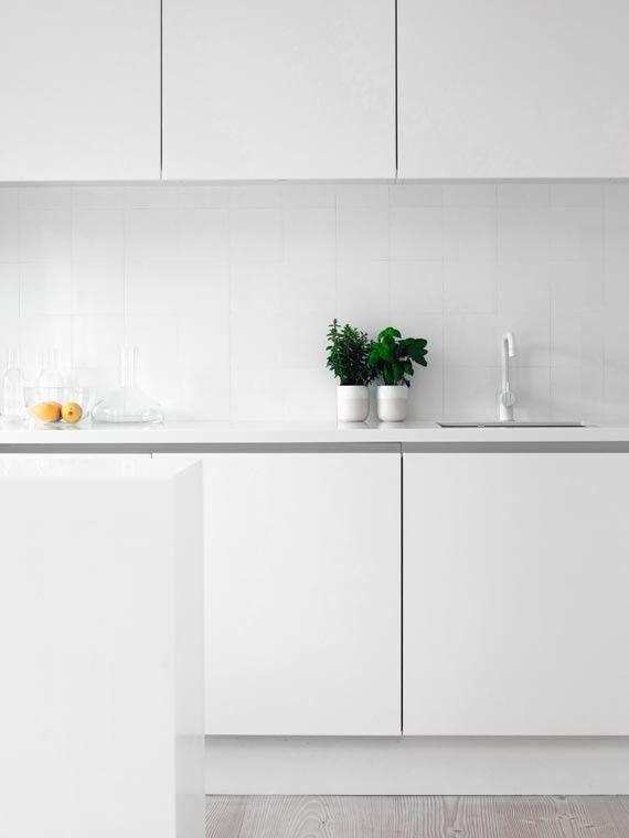 Cucina tutta bianca | Lavelli cucina, Cucine e Interni