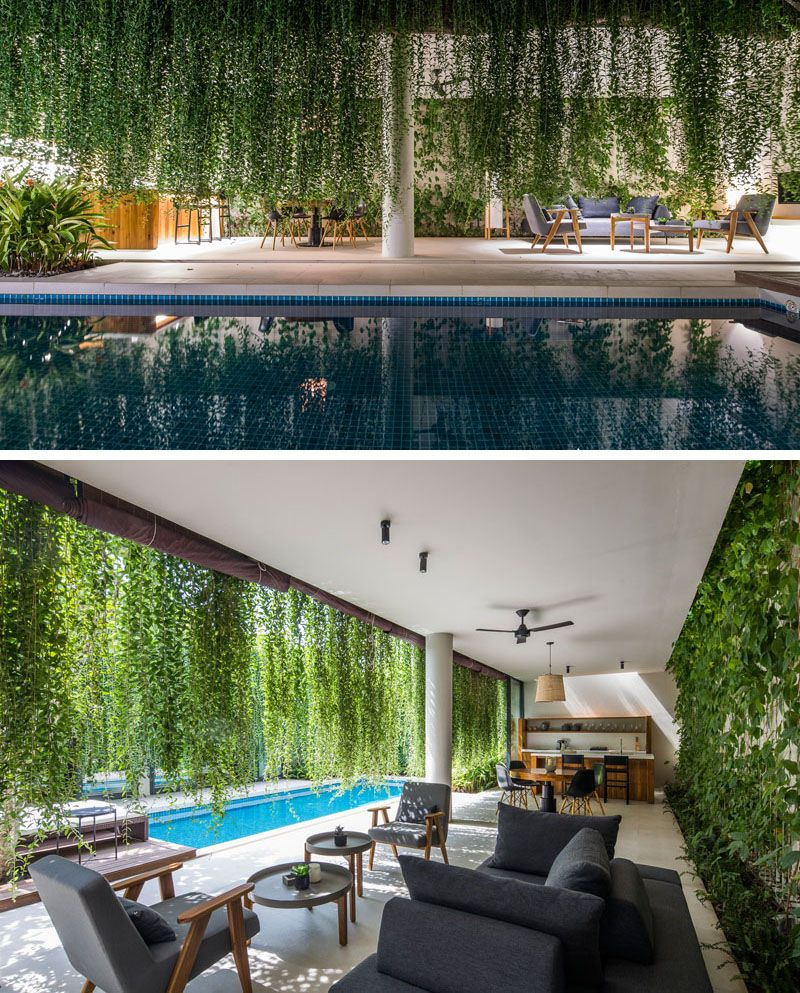Hanging Gardens Create A Private Oasis For These Modern Villas