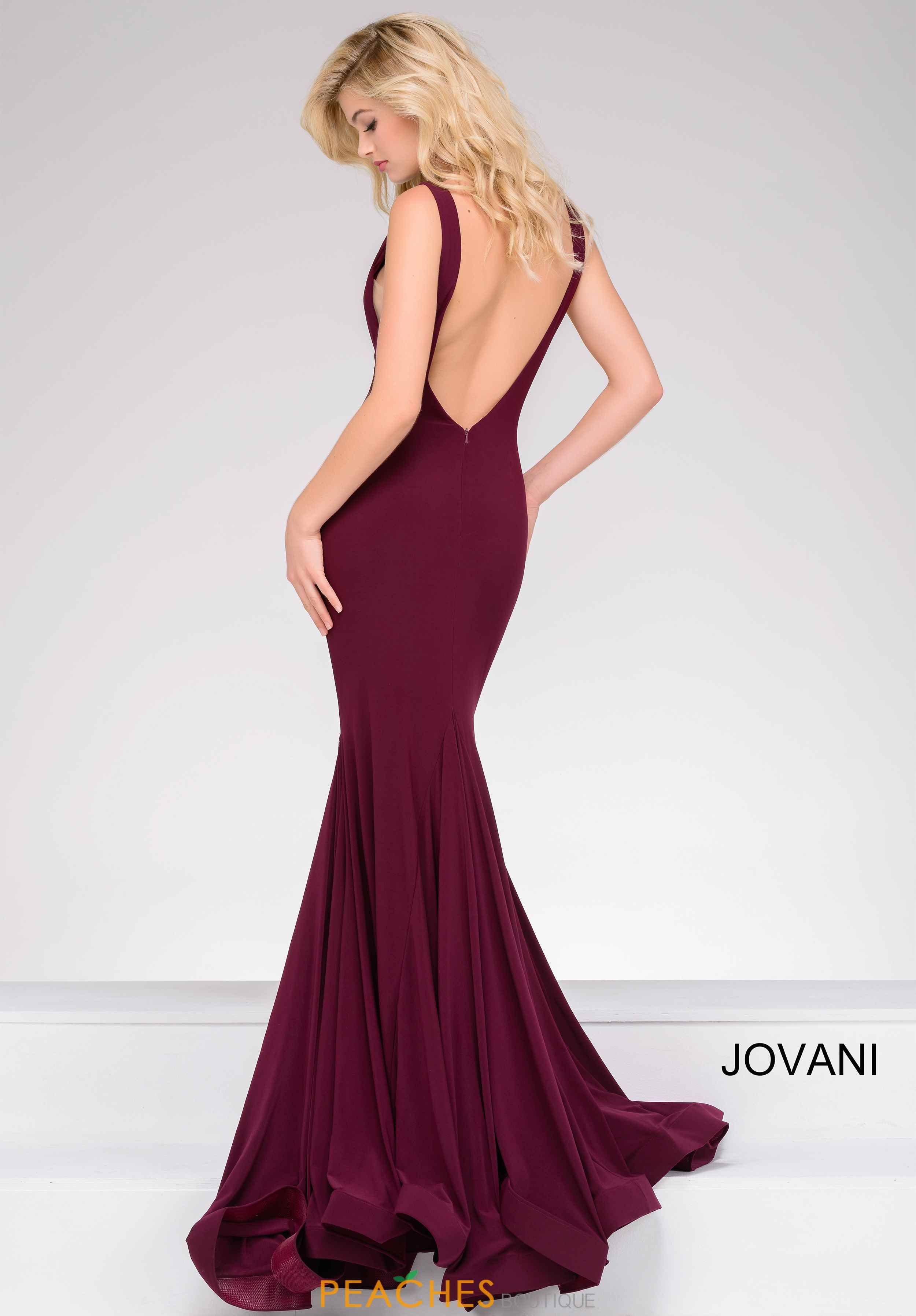 Jovani high neckline fitted dress special occasions