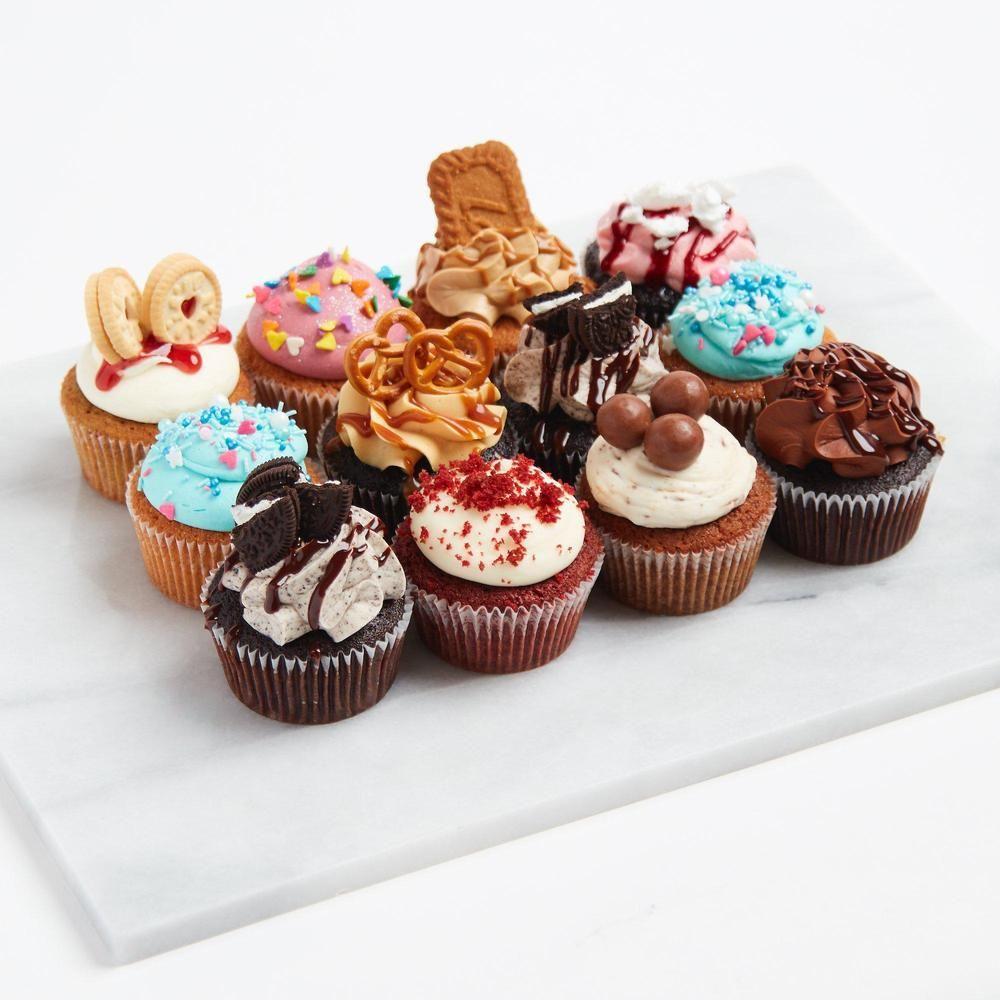 Mixed Cupcakes By The Dozen Cupcake Flavors Vegan Chocolate Cupcakes Cupcake Cakes