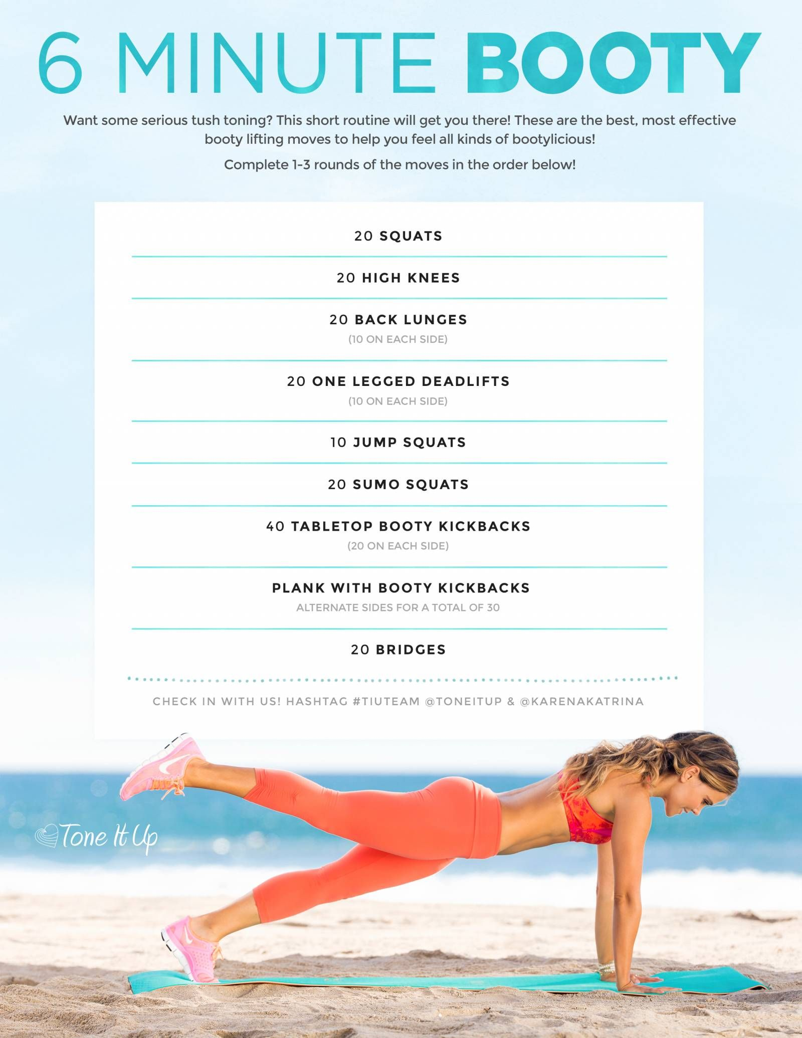 New workout minute booty fit up your life pinterest