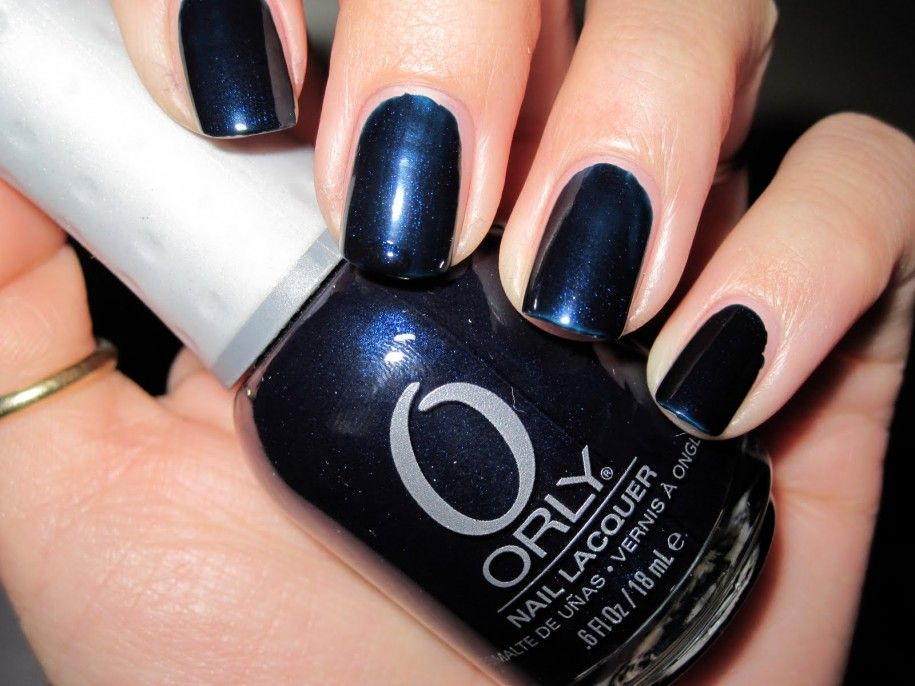 Orly Nails For The Best Nails Dark Blue Nails Polish