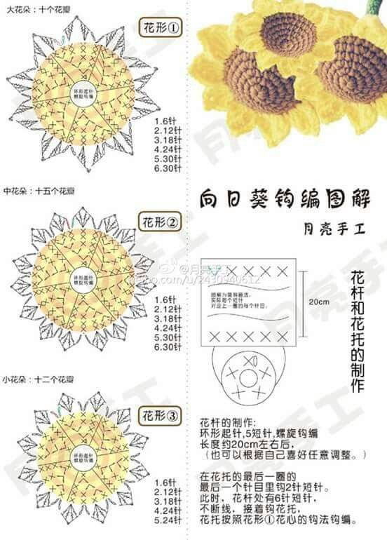 Pin de Sol Mir en Ganchillo 5 | Pinterest | Ganchillo y Flores