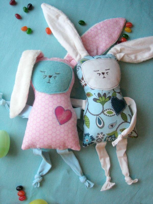 Zelf maken met STOF en VILT | Kuscheltiere, Ostern und Nähen