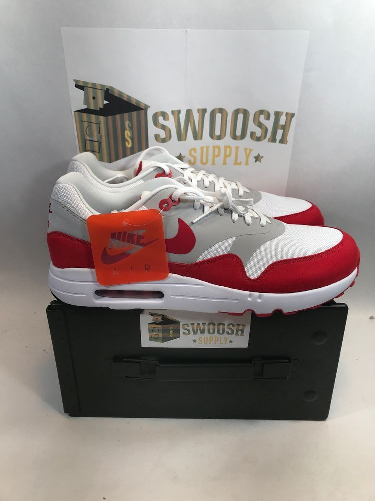 NIKE AIR MAX 1 ULTRA 2.0 LE AIR MAX DAY WHITE UNIVERSITY RED