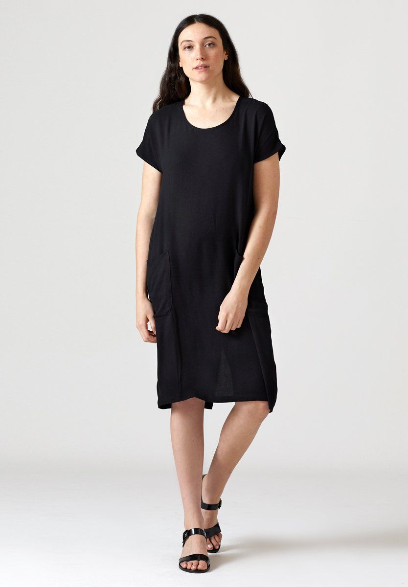 a252aa776505d Cocoon Dress - Black   Style   Cocoon Dress, Dresses, Black