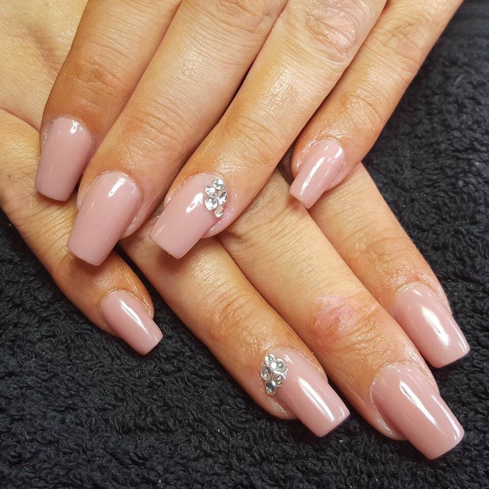 Sculptured Acrylic Nails natural look nails Nude nails | nail ideas ...