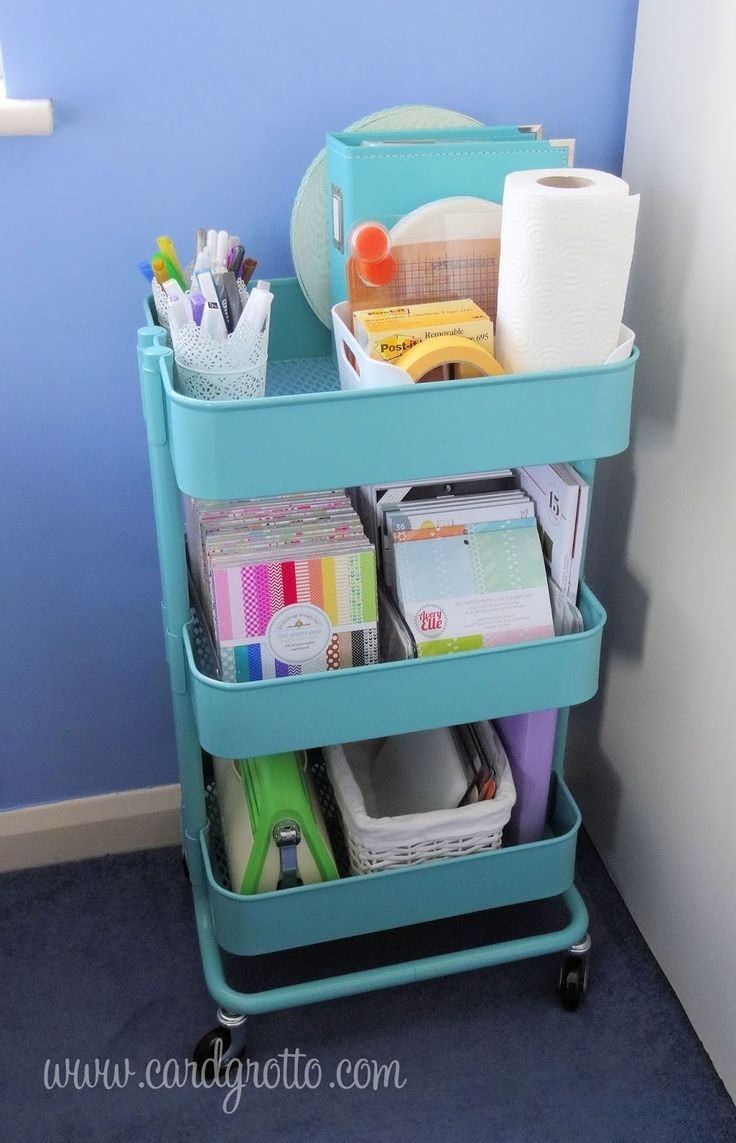 21 Ways to Use Your Raskog Cart To Organize Your Scrapbook Supplies