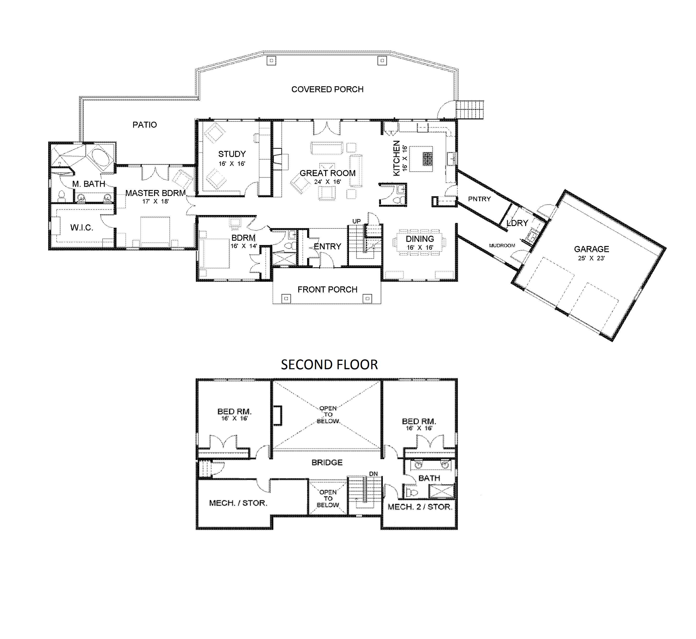 Two story rancher plan::: open floor plan with walk-in ... on small two story log homes, small living room floor plans, small two story modular homes, small office building floor plans, small duplex floor plans, small clubhouse floor plans, small dining room floor plans, small 3 car garage floor plans, small two story home layout,