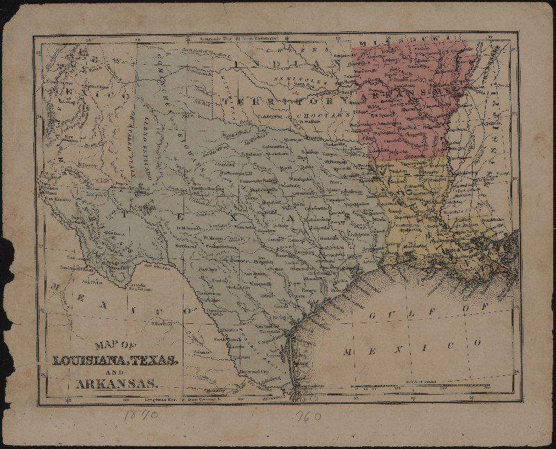 Map of Louisiana Texas and Arkansas More
