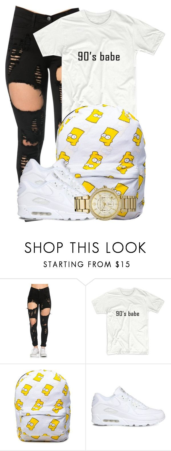 """""""036"""" by heroinmother ❤ liked on Polyvore featuring NIKE and Michael Kors"""